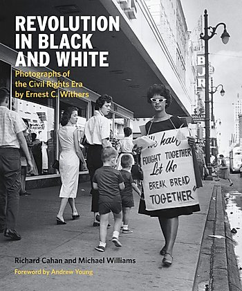 book cover for revolution in black and white depicting protesting black women